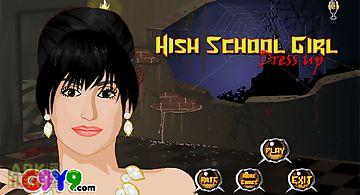 High school girl dress up