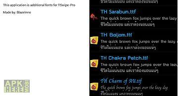 Tswipe-pro font pack
