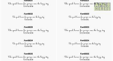 Fonts for flipfont 83