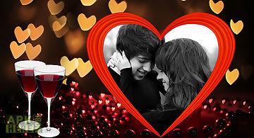 Lovely heart photo frames