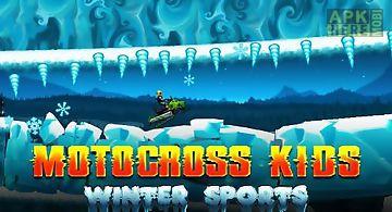 Motocross kids: winter sports