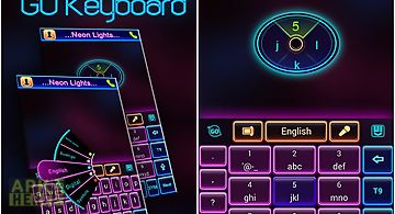 Neon lights go keyboard theme