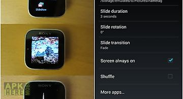 Slideshow for smartwatch