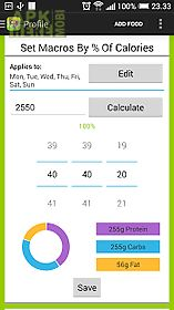 calorie counter - macros