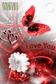 red butterfly white flower lov