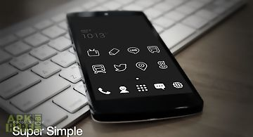 Super simple black dodol theme