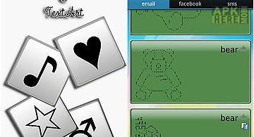 Symbols keyboard and text art