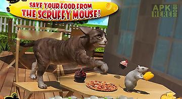 Crazy cat vs. mouse 3d