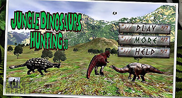 Jungle dinosaurs hunting - 3d