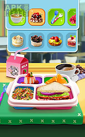 make lunch box: kids food game