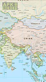 world map offline - political
