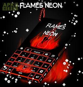 flames neon keyboard