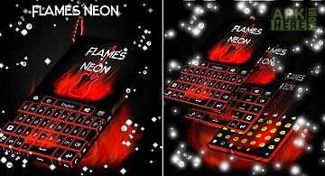 Flames neon keyboard