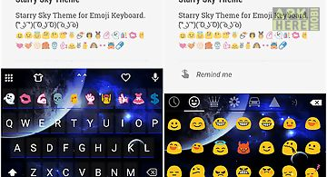 Starry sky emoji keyboard skin