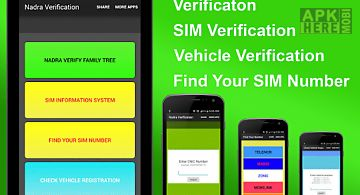 Cnic verification through sms for Android free download at