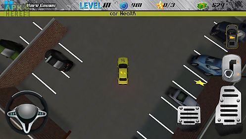 night garage car parking 3d