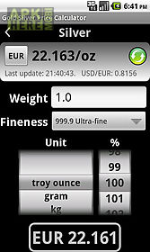 Gold price calculator free for Android free download at Apk