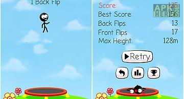 Trampoline man (stickman game)