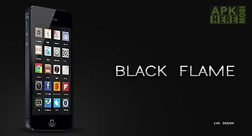 Black flame go launcher theme