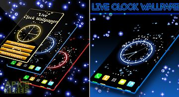 Live clock wallpaper