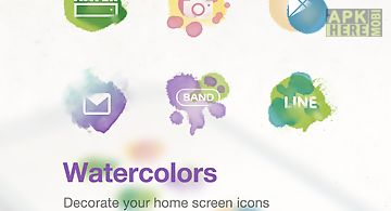 Watercolor line launcher theme