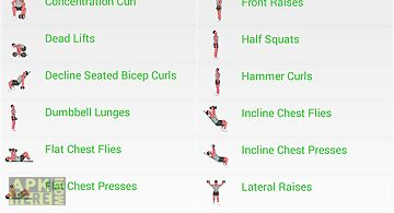 Dumbbell workout with animations