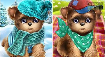 Cute dog sweet puppy dress up