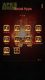 flame skull go launcher theme