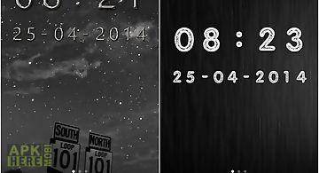 Metal digital clock