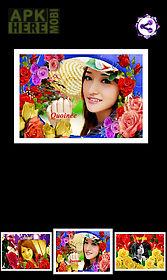 rose flower photo frames