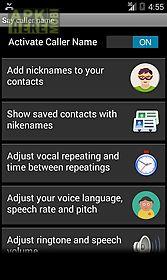 say caller name - free