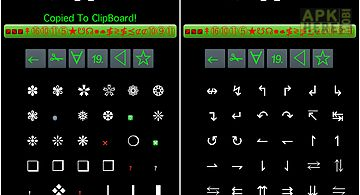 Symbols and cool letters for Android free download at Apk