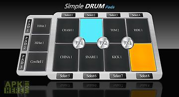 Simple drum pads