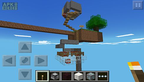 Skyblock pe minecraft pe map for Android free download at