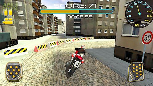 city streets bike rider 3d
