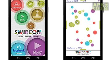 Swipe off : a moving dots game