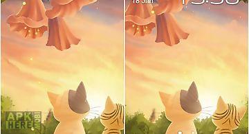Kitten: sunset Live Wallpaper