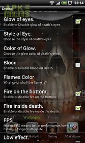 skeleton in hellfire lwp live wallpaper