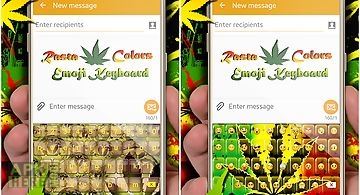 Rasta colors emoji keyboard
