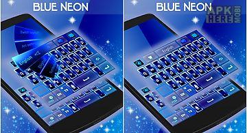 Blue neon go keyboard theme