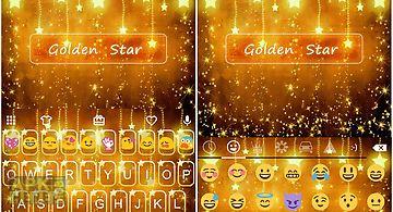 Star golden emoji keyboard