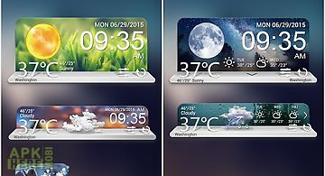 Scenery weather widget theme