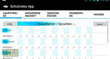 Schulnoten app