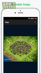 base clash of clans map layout