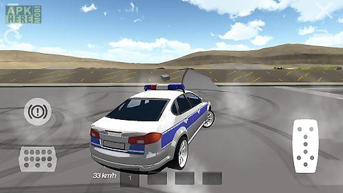 police car drifting 3d
