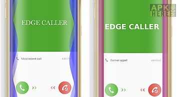 Edge notification color caller