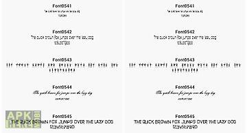 Fonts for flipfont 54