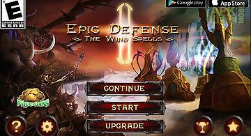 Epic defense 2 - wind spells