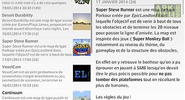 News minecraft.fr