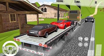 Offroad car trailer transport
